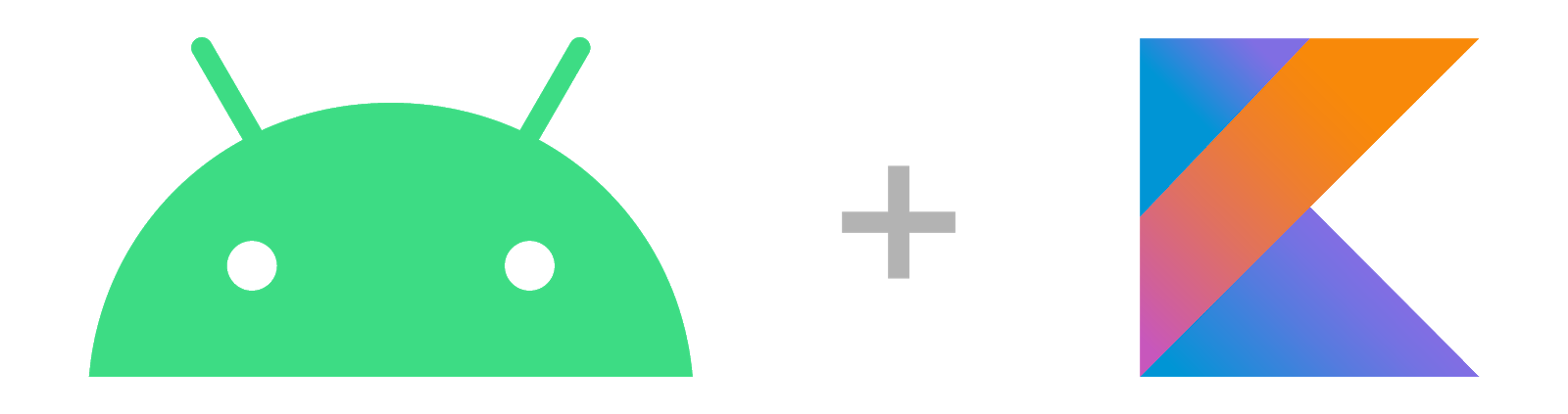Android 로고와 Kotlin 로고