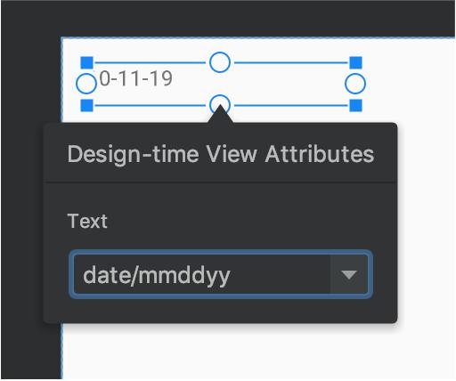 vista de texto con datos de muestra