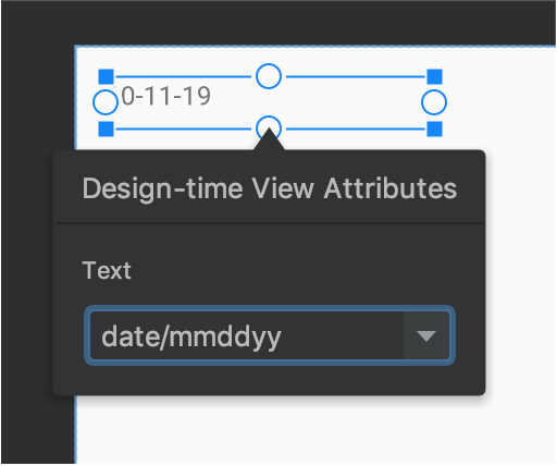 text view with sample data