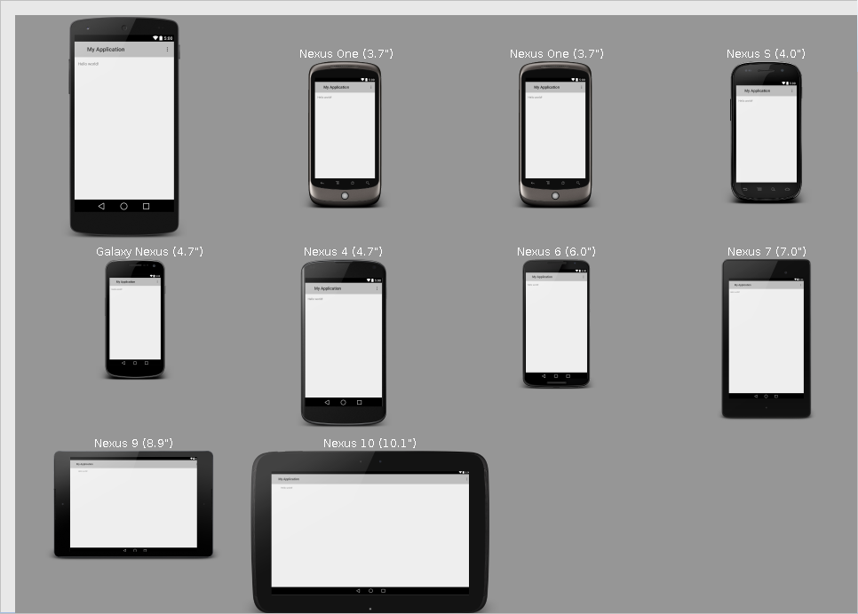 Preview All Screen Sizes Android Studio