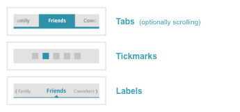 Example paging companion UI elements
