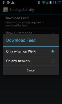 Configurar uma preferência de rede