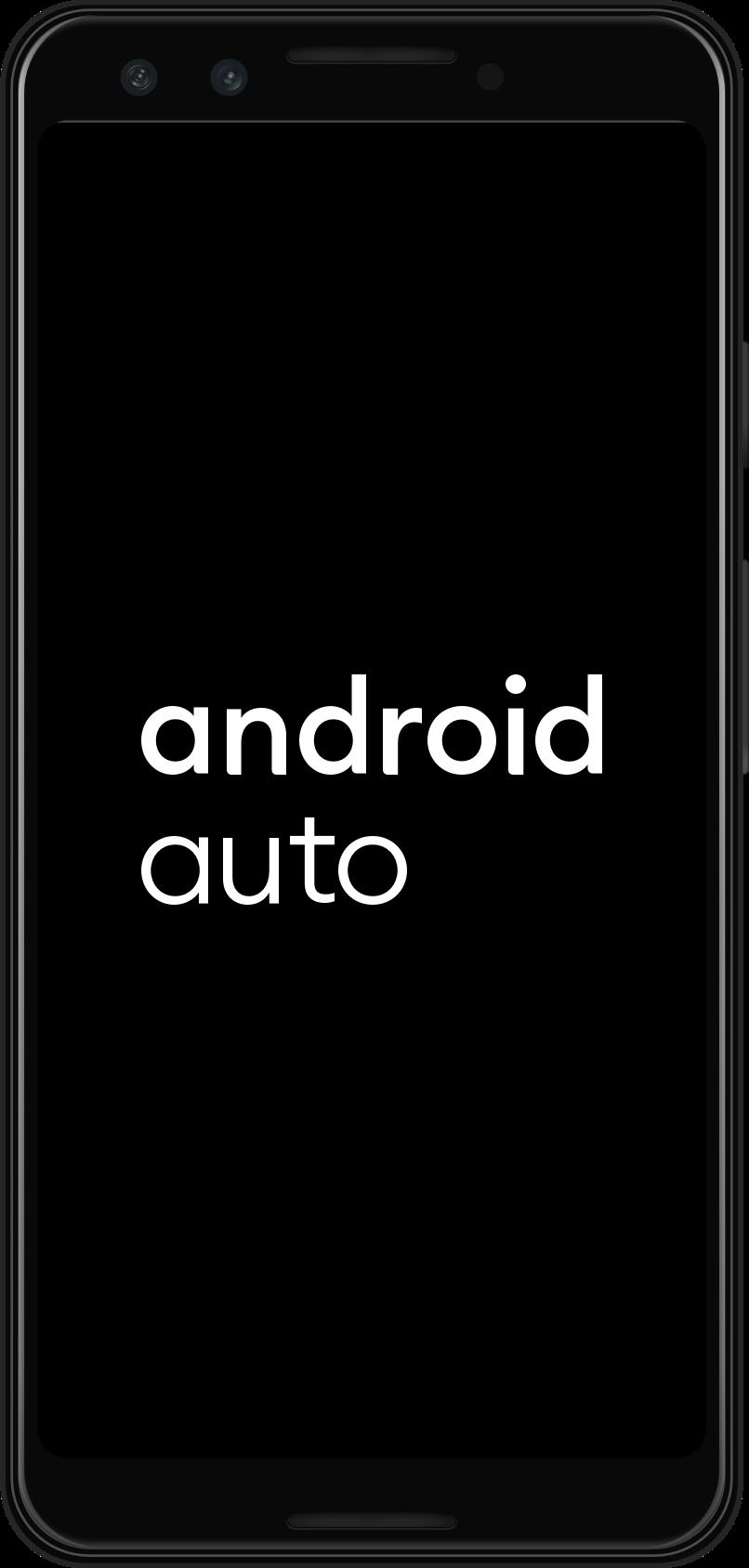 O Android Auto é iniciado no dispositivo móvel