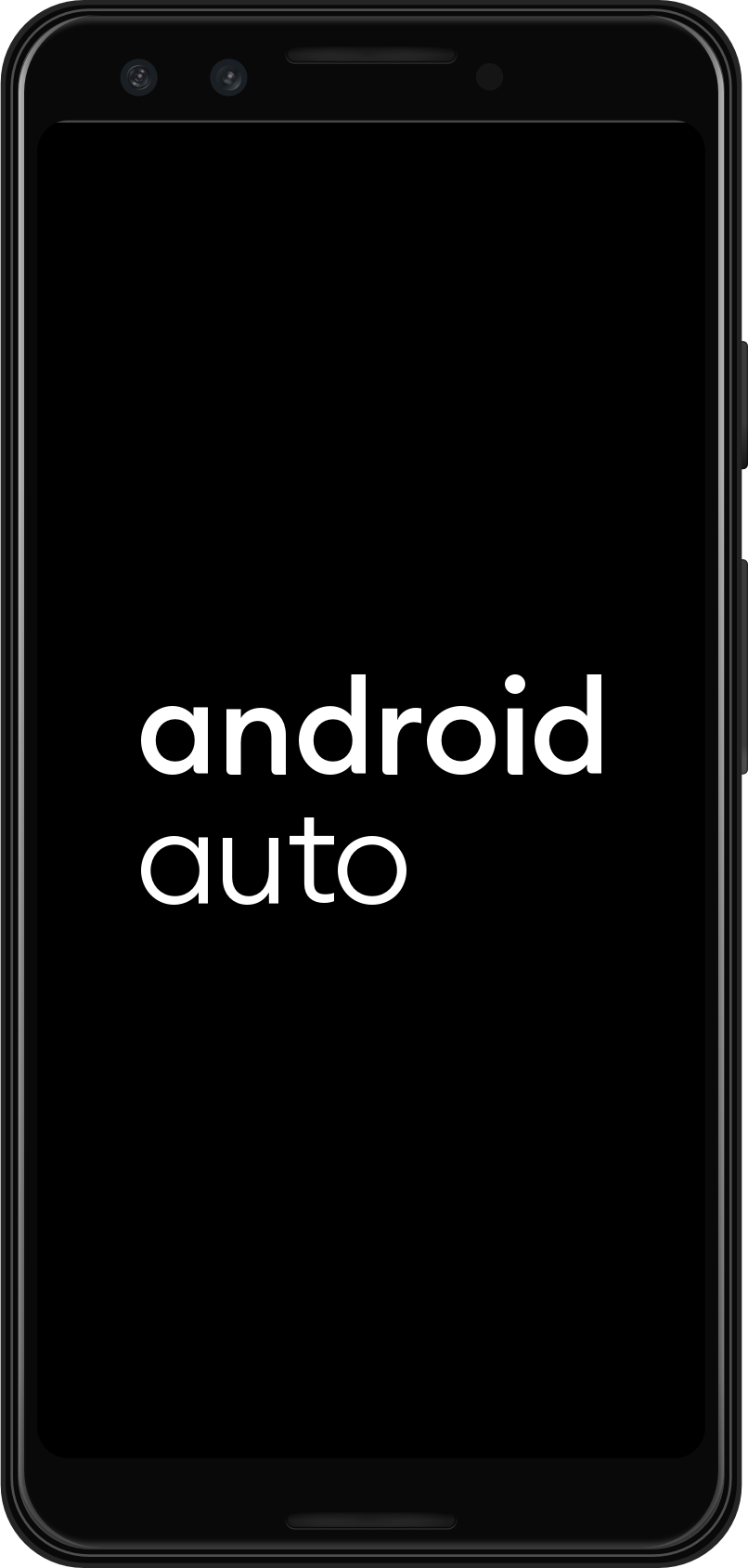 Android Auto is launched on the mobile device