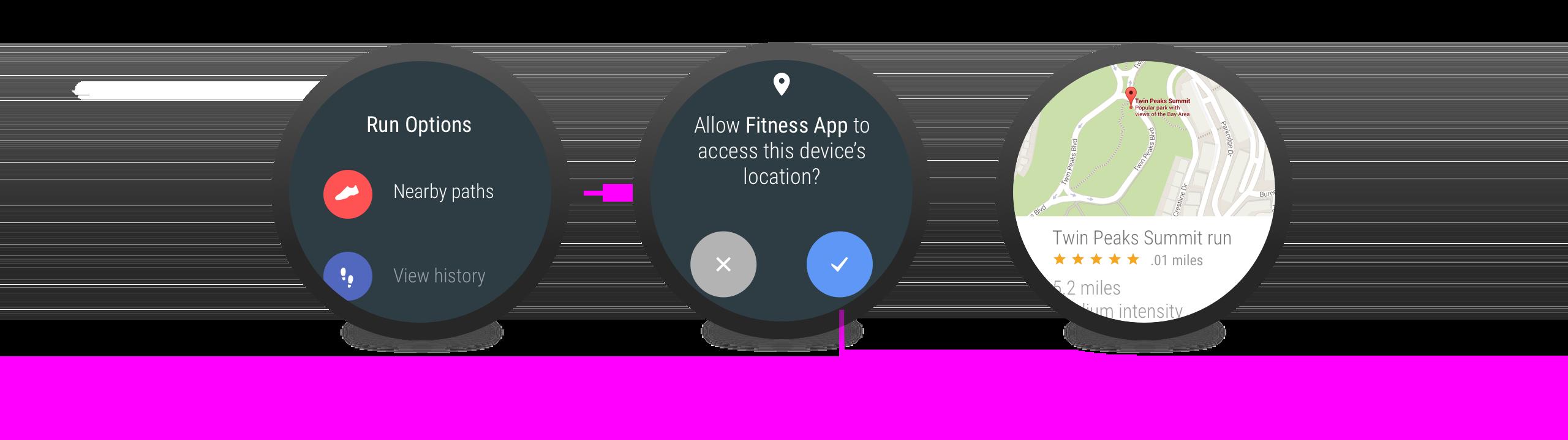 O app solicita a permissão quando ela é obviamente necessária.