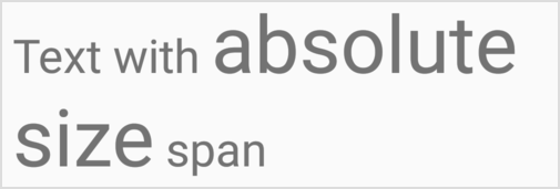 AbsoluteSizeSpan   Android Developers