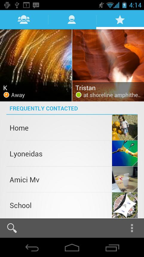 ตัวอย่าง Tabs ใน Android รุ่น Gingerbread 2.3