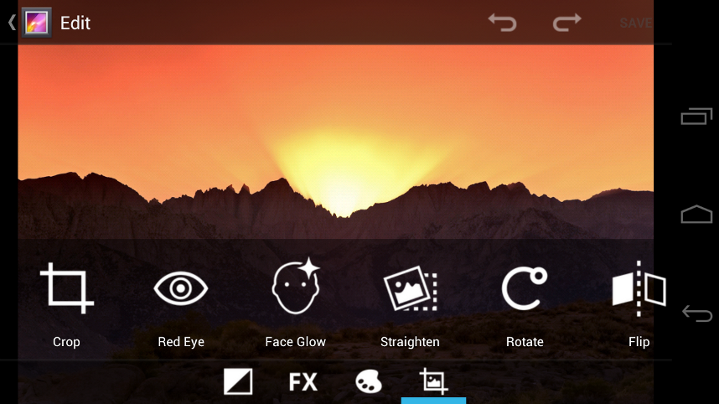 Edit image on the go with the new gallaery edit Feature From Android 4, Ice Cream Sandwich