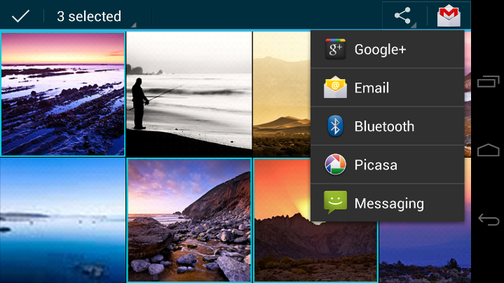 Android 4.0 Photo Gallery