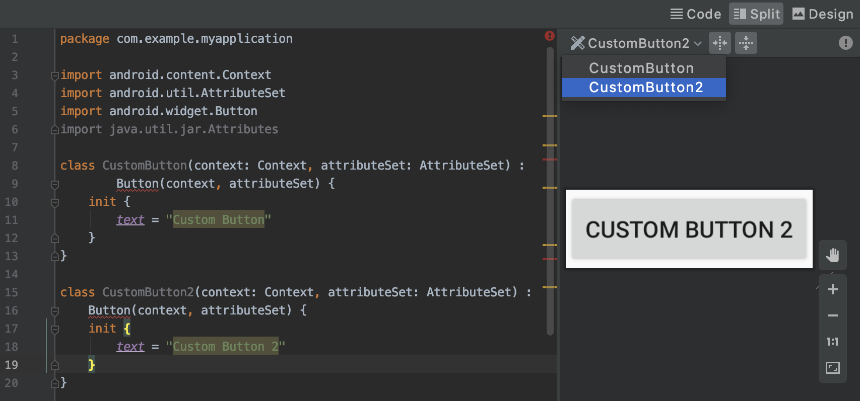 Preview custom views in the IDE.
