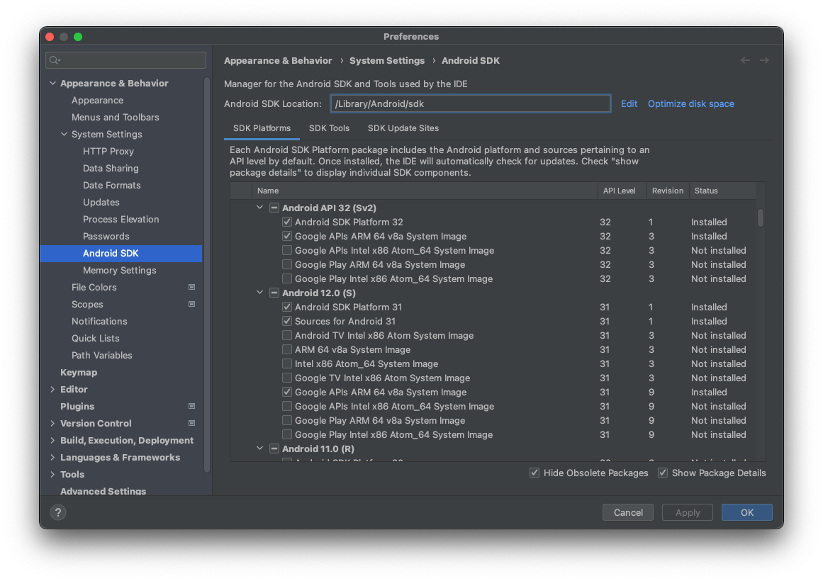 Sdk Platform Release Notes Android Studio