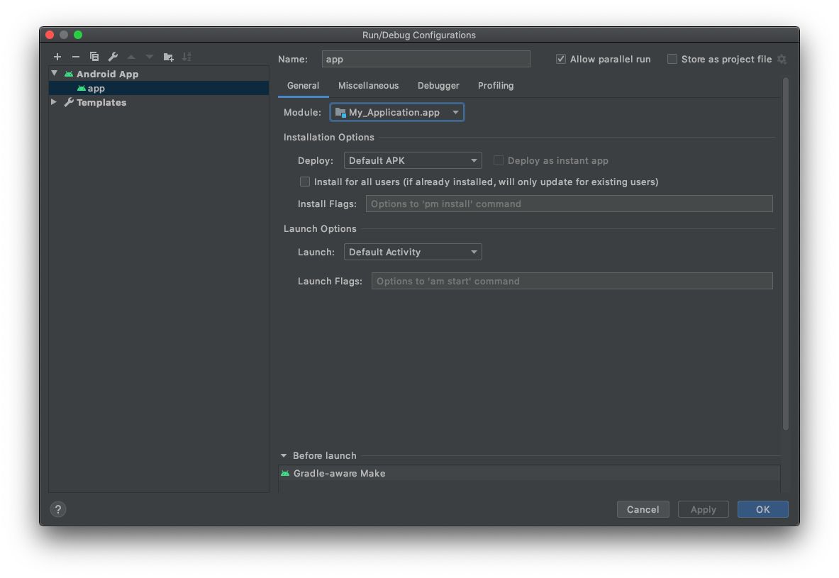 Create and edit rundebug configurations android studio open the rundebug configurations dialog baditri Image collections