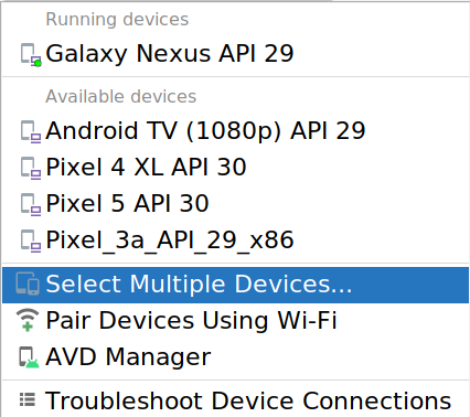 Diálogo Modify Device Set