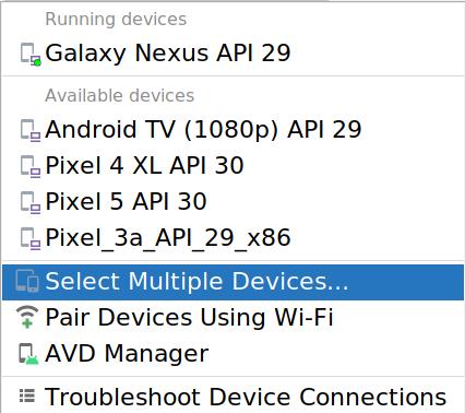 Modify device set dialog