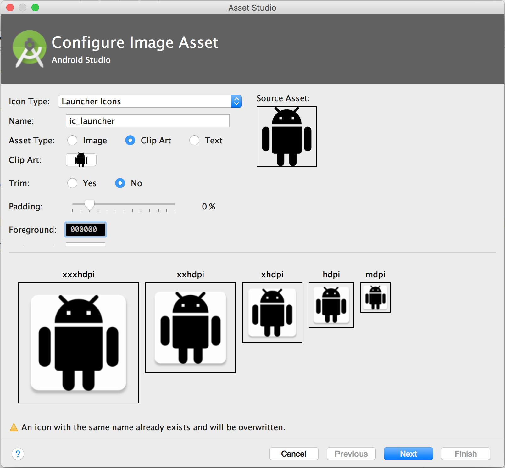 Crear íconos de apps con Image Asset Studio | Android Developers