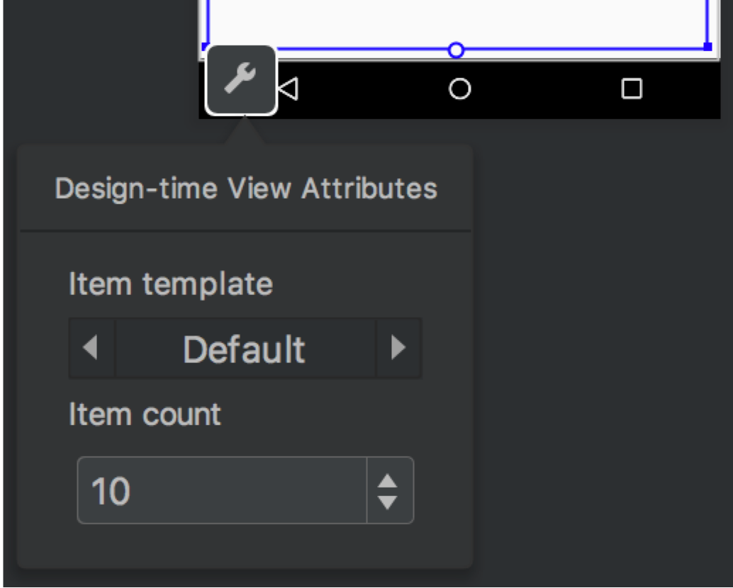 Build a ui with layout editor android developers click this button to display the design time view attributes window as shown in figure 4 malvernweather Image collections