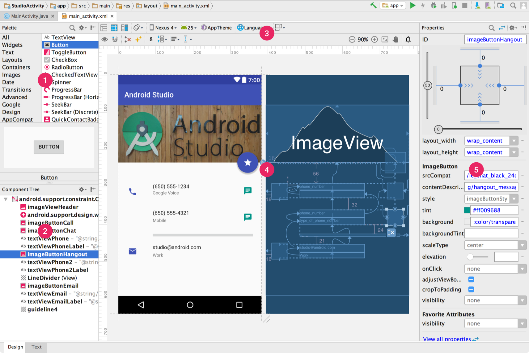Build a UI with Layout Editor | Android Studio