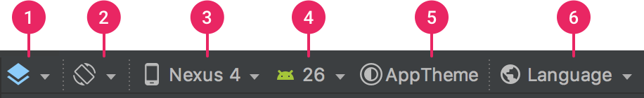 Toolbar callouts in the Design Editor