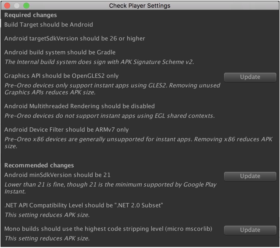 Las sugerencias específicas incluyen usar solamente OpenGLES2.0 e inhabilitar el procesamiento de subprocesos múltiples.