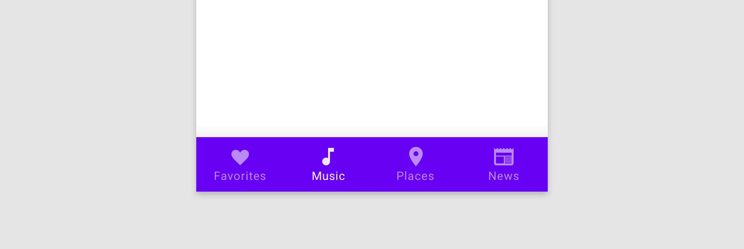 bottom navigation bar