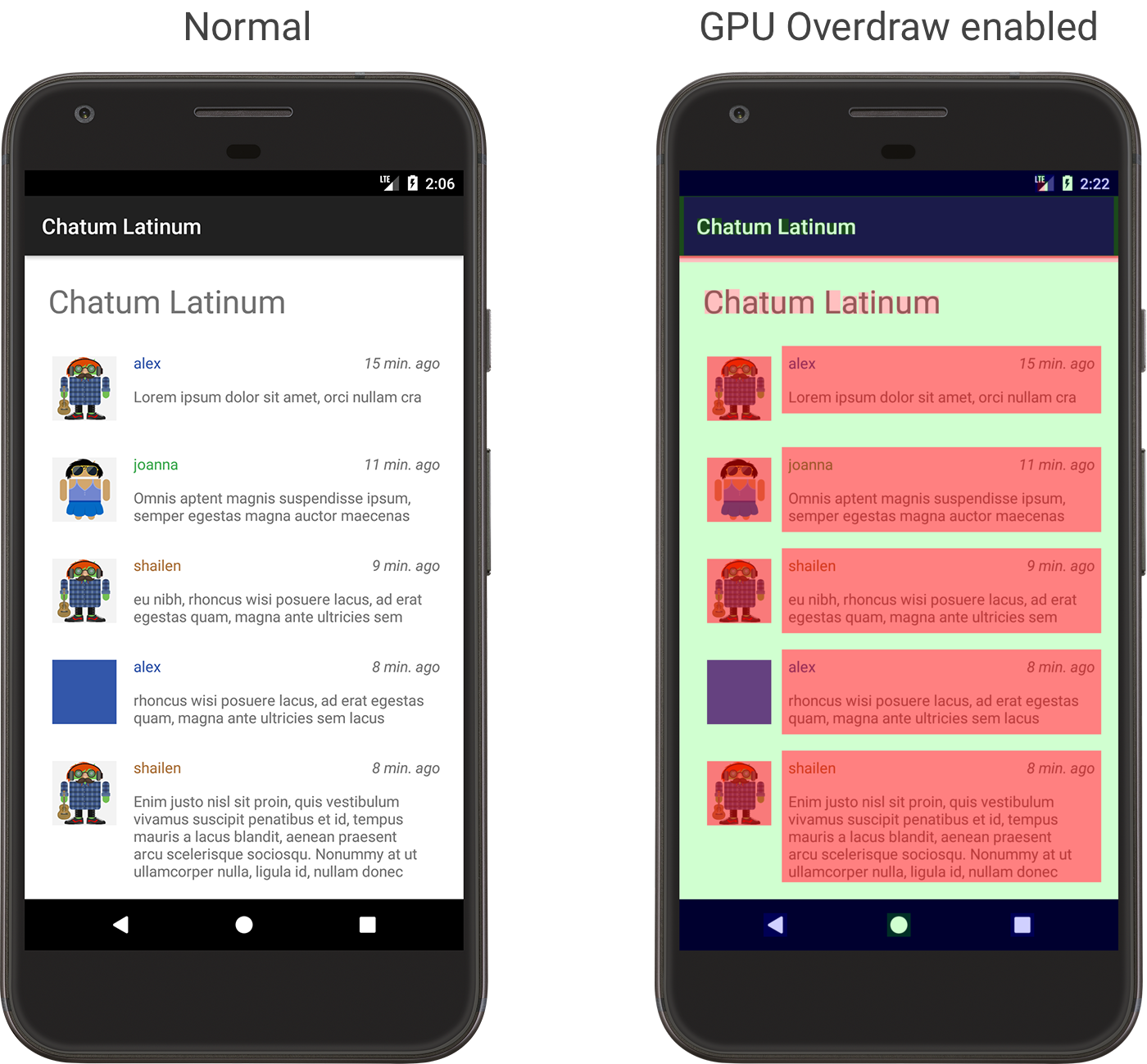 Inspect Gpu Rendering Speed And Overdraw Android Developers