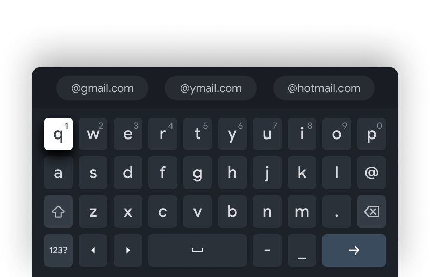 Email input