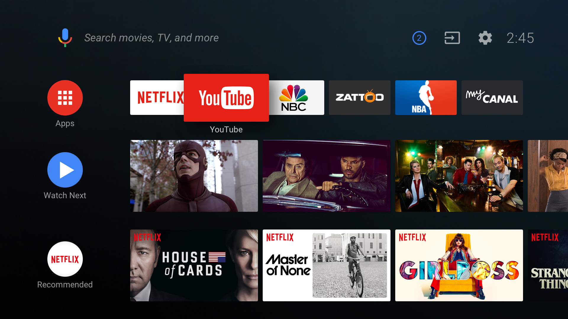 how to add apps to android tv home screen